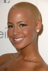 beautiful and bald woman