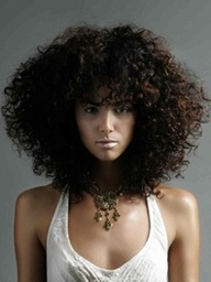 curly strong hair