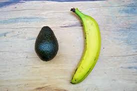 avocado and bananas to set the mood