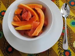 fruit salad papaya grapefruit