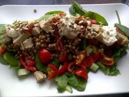 tuna salad tomatoes and sunflower seeds