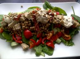 tuna salad tomatoes and sunflower seeds