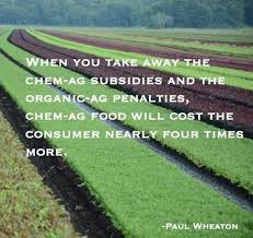 chemically grown food cost more