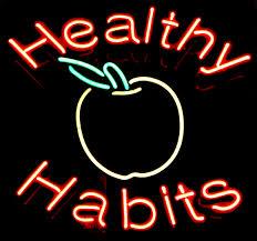 healthy habit sign