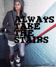 take the stairs for health
