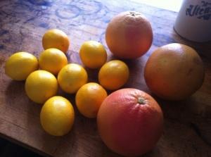 lemons and grapefruit for detox